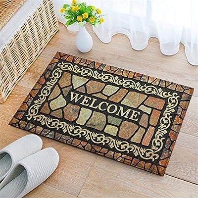 Eanpet Front Door Mat Funny Doormat Welcome Mats 2x3 Outdoor Indoor Entrance Doormat Rubber Non Slip Rug Outside Waterproof Shoes Scraper Area Rug for Home Decor Bedroom Garden