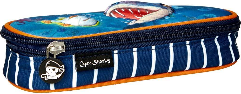 Die Spiegelburg 14547 astuccio per la scuola tenere in ordine penne e matite serie: Capt/´n Sharky adatto per bambini