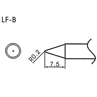 AOYUE WQ/LF-B Puntas soldadura sin plomo cónica R0.2mm Estación de