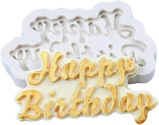 Happy Birthday Silicone Cake Mold Decoration Chocolate Baking Mold Mini House