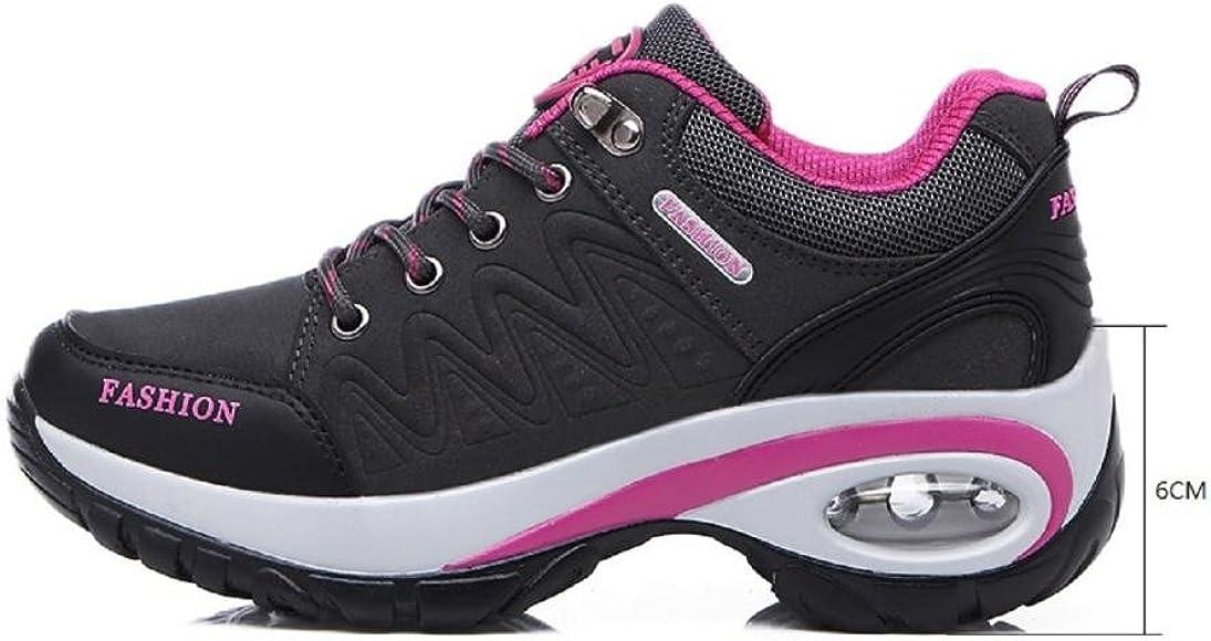 T-Gold Air Zapatillas Deportivas de Mujer Aire Libre Correr Running Gimnasio Zapatos Talón 6 CM(EU 35,Gris): Amazon.es: Zapatos y complementos