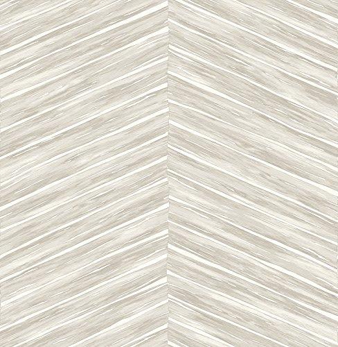 Brewster 2767-23777 Pina Light Grey Chevron Weave Wallpaper