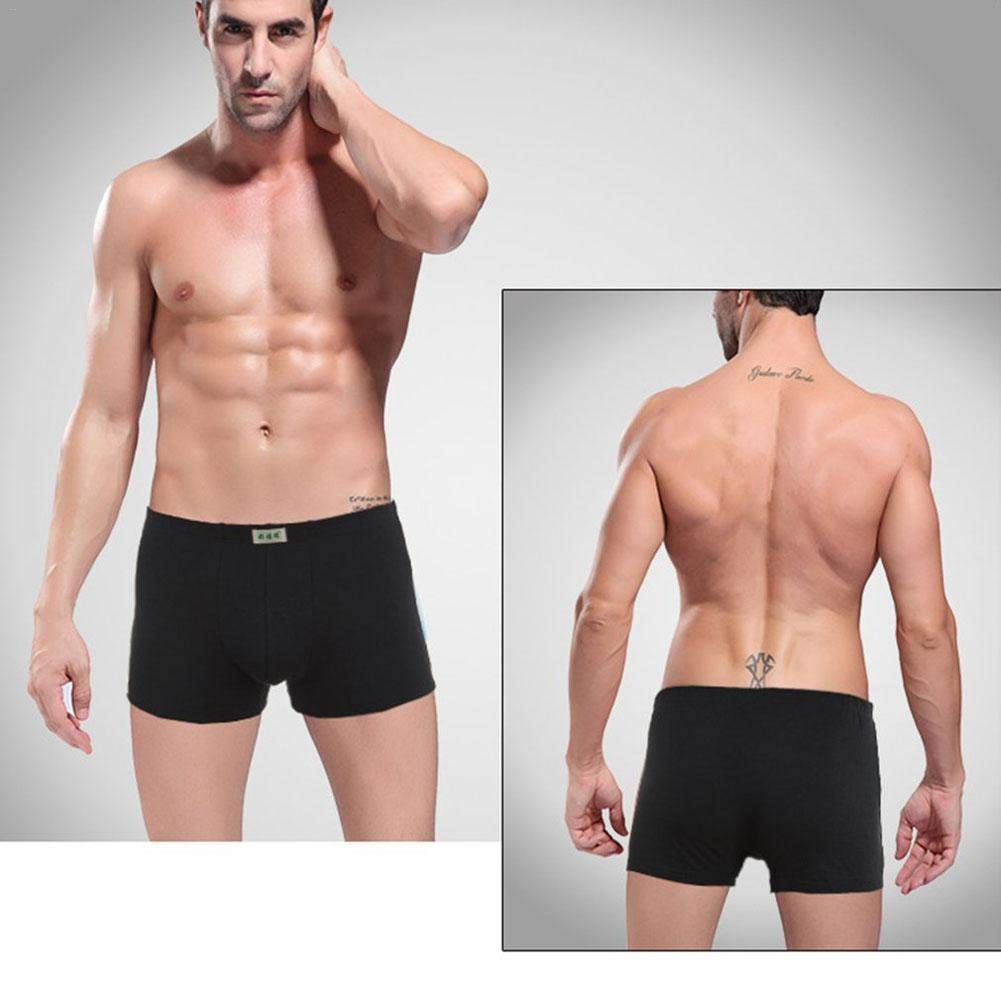 iBaste/_S 4Pcs Mens Underpants Breathable Underwear Organic Soft Stretch Cotton Boxer Briefs