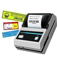 Impresora de etiquetas, portátil, Bluetooth, transferencia térmica, impresora de alta velocidad, compatible con Android e iOS para pequeñas empresas, supermercados, minoristas y más etiquetas., Blanco y Negro, MHT-L5801 Label printer (black and white)