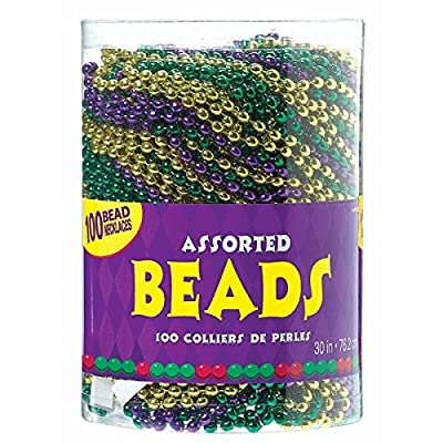 Assorted Party Bead Necklaces, 100 Ct.: Toys & Games
