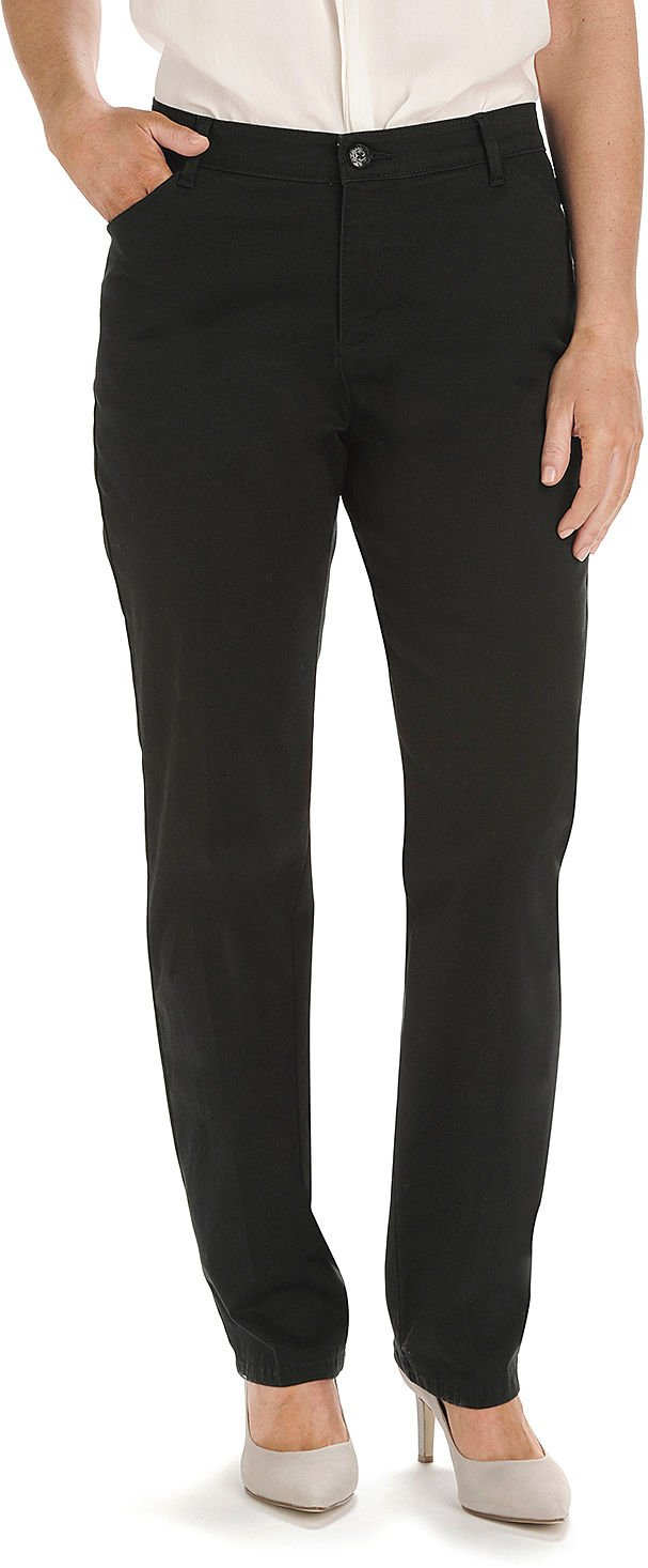 LEE Women's Petite Relaxed-Fit All Day Pant, Black, 10 Short Petite