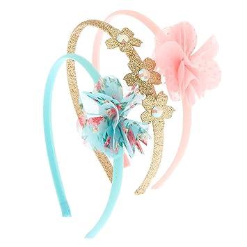 Amazon.com   Claire s Club Girl s Claire s Club Floral Headbands - 3 ... b32139425e2
