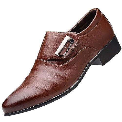 Zapatos Hombre Black Friday Casuales Invierno Zapatos de Cuero de Negocios de Moda para Hombres, Zapatos de Punta Puntiaguda, Zapatos de Traje Masculino: ...