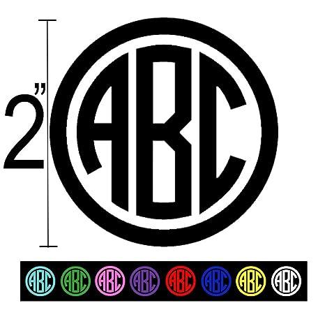 Amazoncom Custom Vinyl Decal Monogram Sticker Initials For - Custom vinyl decals monogram