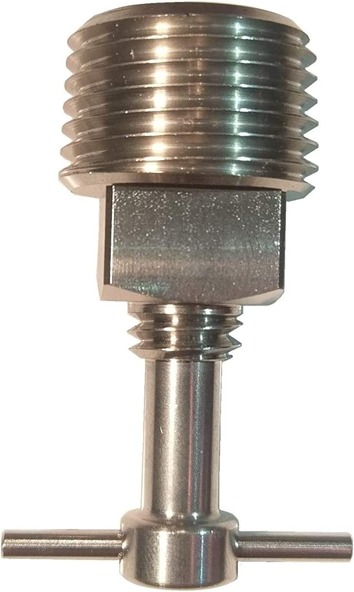 Shoreline Marine Stainless Steel Drain Twist Plug 1-Inch