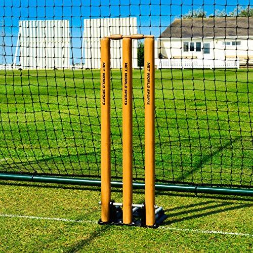 Spring Back Cricket Stumps - Standard Size - [Net World Sports] by Net World Sports