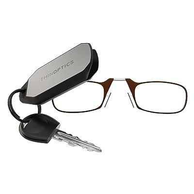 Amazon.com: ThinOPTICS Keychain Reading Glasses, Brown Frame, 2.00 ...