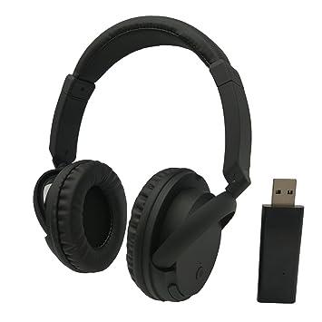 TV/PC Auriculares inalámbricos, lovepea batería Over-Ear Auriculares para juegos Auriculares con