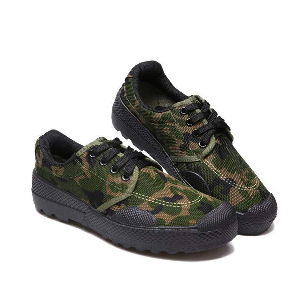 - QIAO Chaussures de libération de l'assurance du Travail pour Hommes et Femmes, Chaussures d'entraînement pour l'entraînement en Plein air Militaire, vêtements antidérapants Absorption des Chocs,C,44