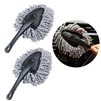 IPELY 2 Pack Super Soft Microfiber Car Dash Duster Brush for Car Cleaning Home Kitchen Computer Cleaning Brush Dusting Tool: Automotive