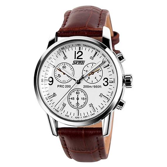 Reloj casual de pareja para hombre Reloj vintage de cuarzo resistente para hombre y mujer Reloj
