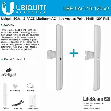 Ubiquiti LBE-5AC-16-120 Antenna Windows 8 X64