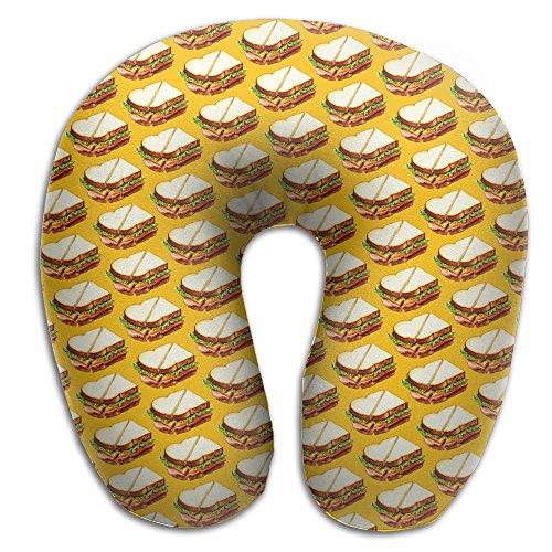 Ham Sandwich Pattern Art Print Soft Microfiber Neck-support Travel Neck - Sunglasses Hot Buttered
