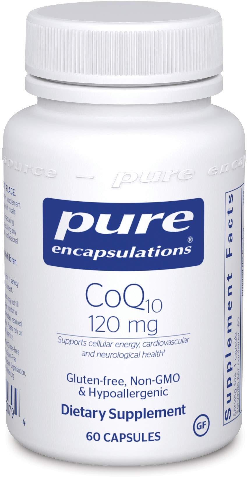 Pure Encapsulations CoQ10 120 mg   Coenzyme Q10 Supplement for Energy, Antioxidants, Brain and Cellular Health, Cognition, and Cardiovascular Support*   60 Capsules