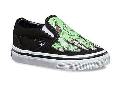 Vans Toddlers Classic Slip-On (Glow In The Dark) Skate Shoe (5.5 ... 18d9c0203
