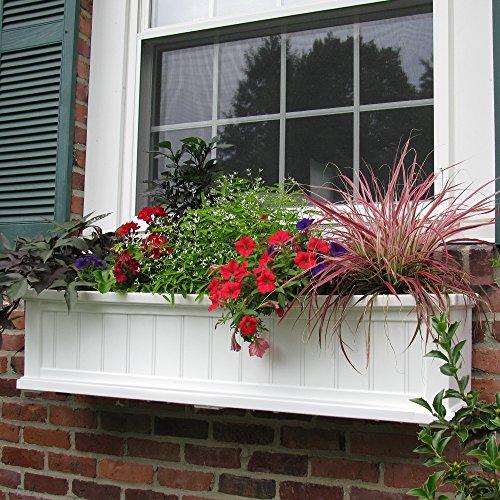 (Cape Cod Window Box 4FT White)