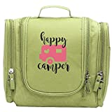 JCBaa Happy Camper Makeup Bag/Cosmetic Bags Women's Portable Brushes Case Toiletry Bag Travel Kit Jewelry Organizer Multifunctional Pouch/Bags For Household,Business,Vacation