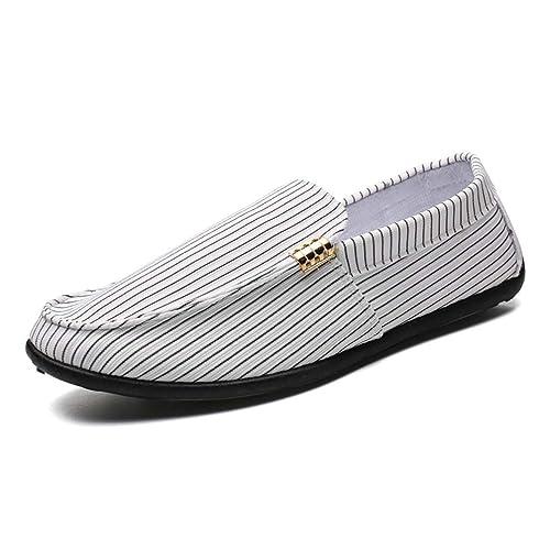 Moda Zapatos Hombres Casual Lona Calzado Hombre Ocio Mocasines Bajo Tela Superior Transpirable Slip En La Unidad Zapatos De Barco: Amazon.es: Zapatos y ...