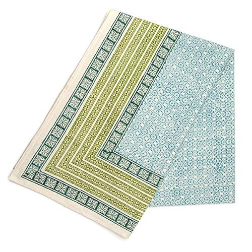 Allen Hand Block Printed Cotton Tablecloth (India)