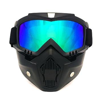 Spohife Gafas Desmontable Máscara del Moto Filte de Boca para Cascos Abierto Media Cara de Esquí