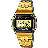 Relógio Unissex Digital Casio A159WGEA-1DF - Preto/Dourado