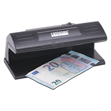 Ratiotec 00064120 Detector de billetes falsos Soldi 120 Negro: Amazon.es: Oficina y papelería