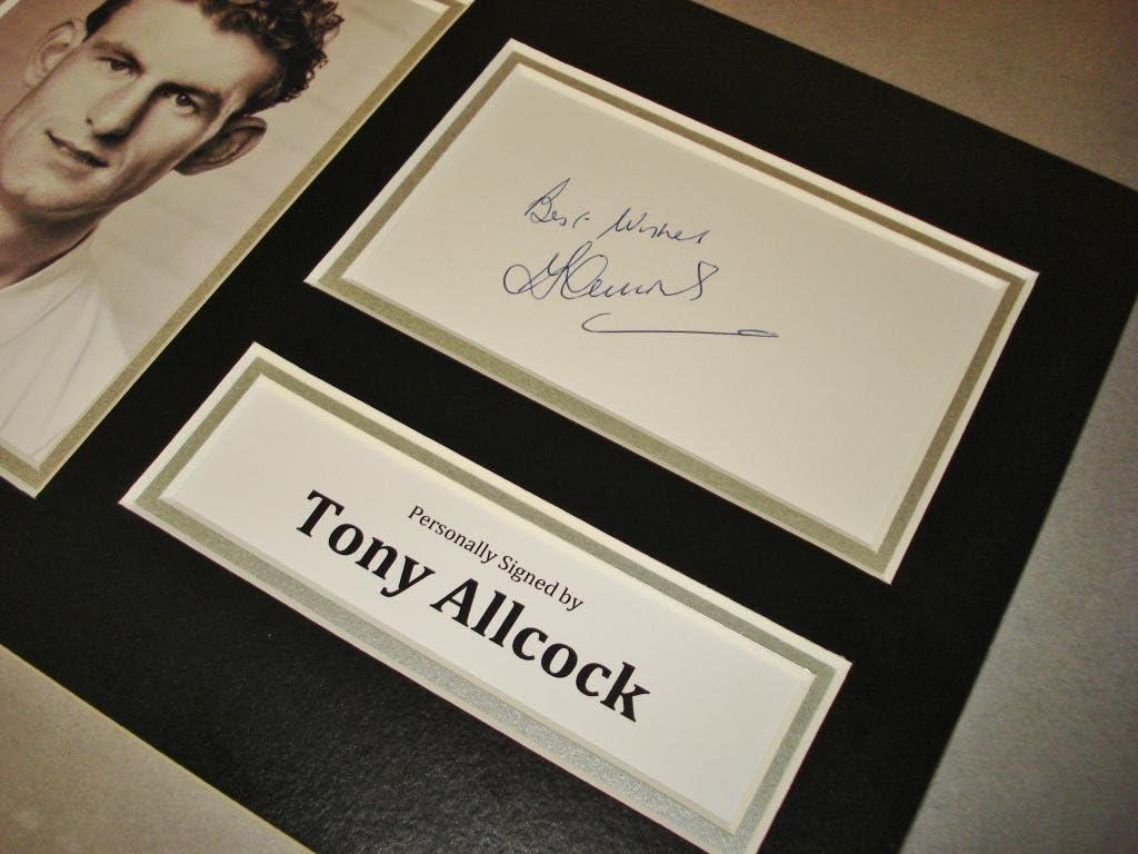 COA Terry Allcock Signed A4 Photo Display Norwich City Autograph Memorabilia