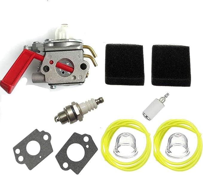 Fuel Li C1U-H47 Carburetor for Homelite K100 K300 K400 ST2527 ST2537S UT15164 UT15169 UT20758 UT20760 UT20769 UT20772 String Trimmer with 98760 Air Filter Kit