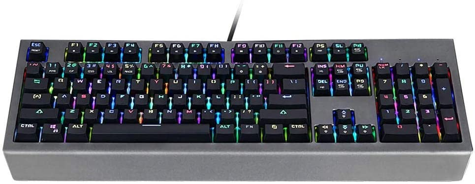 Color : Photo Color, Size : One Size Cigkany-HO Mechanical Gaming Keyboard RGB Gaming Keyboard 104 Key Outemu Blue Switch Mechanical Gaming Keyboard for Gamers and Typists