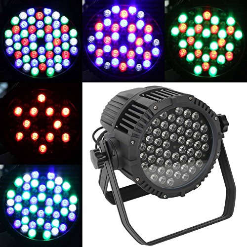 Tengchang Pro Waterproof 54x3W RGBW LED Light PAR64 DMX512 4CH/8CH IP65 DJ Stage Lighting