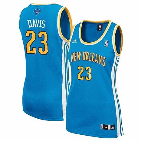 80b811435 Anthony Davis New Orleans Hornets NBA Adidas Women s Teal Replica Jersey ...