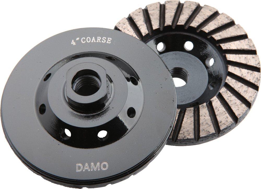 DAMO 4'' Diamond Turbo Grinding Cup Wheel Coarse Grit for Concrete / Granite Floor