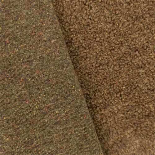 Warm Brown Single-Sided Berber Fleece, Fabric by The Yard