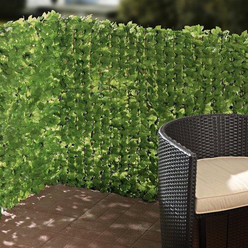 Balkon-Sichtschutz Efeu zuschneidbar grün ca. 3 x 1 m