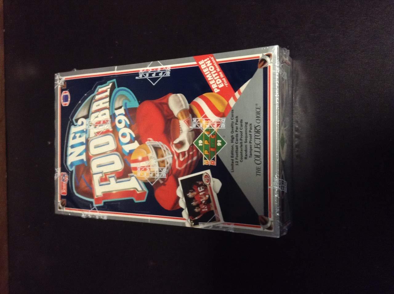 1991 Upper Deck Football Sealed Wax Box, Brett Favre RC, ZQL