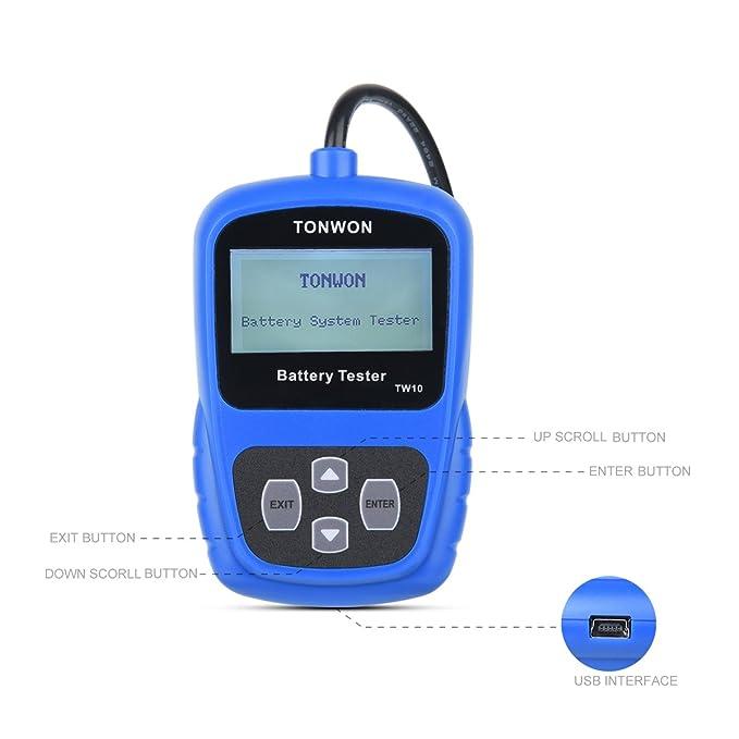 TONWON Car Battery Tester,OBD2 Scanner,Battery Load Tester for 12V Car and Light Truck Battery Health