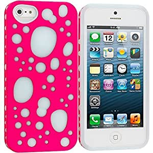 diy case Pink / Blue Hybrid Bubbles Hard/Soft TPU 2-Piece Case Cover Accessory for Apple iPhone 4s