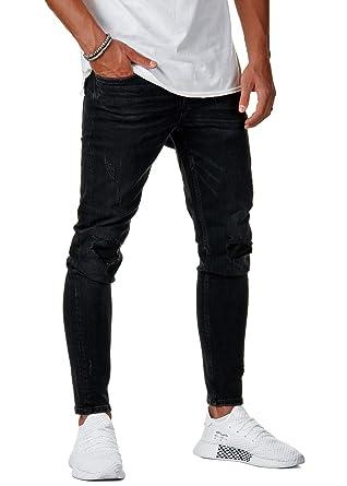 Zerrissene jeans herren schwarz