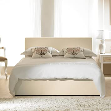 Tremendous Emporia Beds 4Ft Small Double Madrid Ivory Faux Leather Pdpeps Interior Chair Design Pdpepsorg