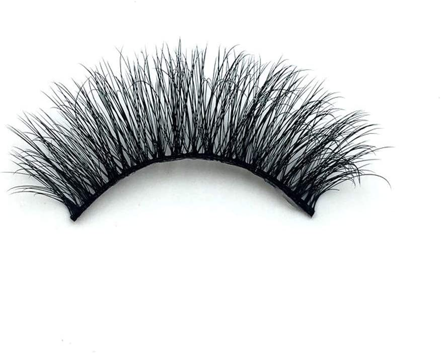 Dsood 5 Pairs 3D False Eyelashes Thick Eyelashes Extension Long Lashes with Volume for Womens Make Up Soft Makeup Extension