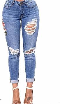 LuckyGirls Pantalones Mujer Vaqueros Cintura Alta Originals