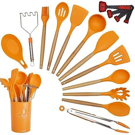 Amazon.com: Annvchi - Juego de 14 utensilios de cocina de ...