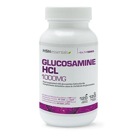 Glucosamina HCl de HSN Essentials - Antiinflamatorio Natural, Suplemento para la Osteoartritis y el dolor