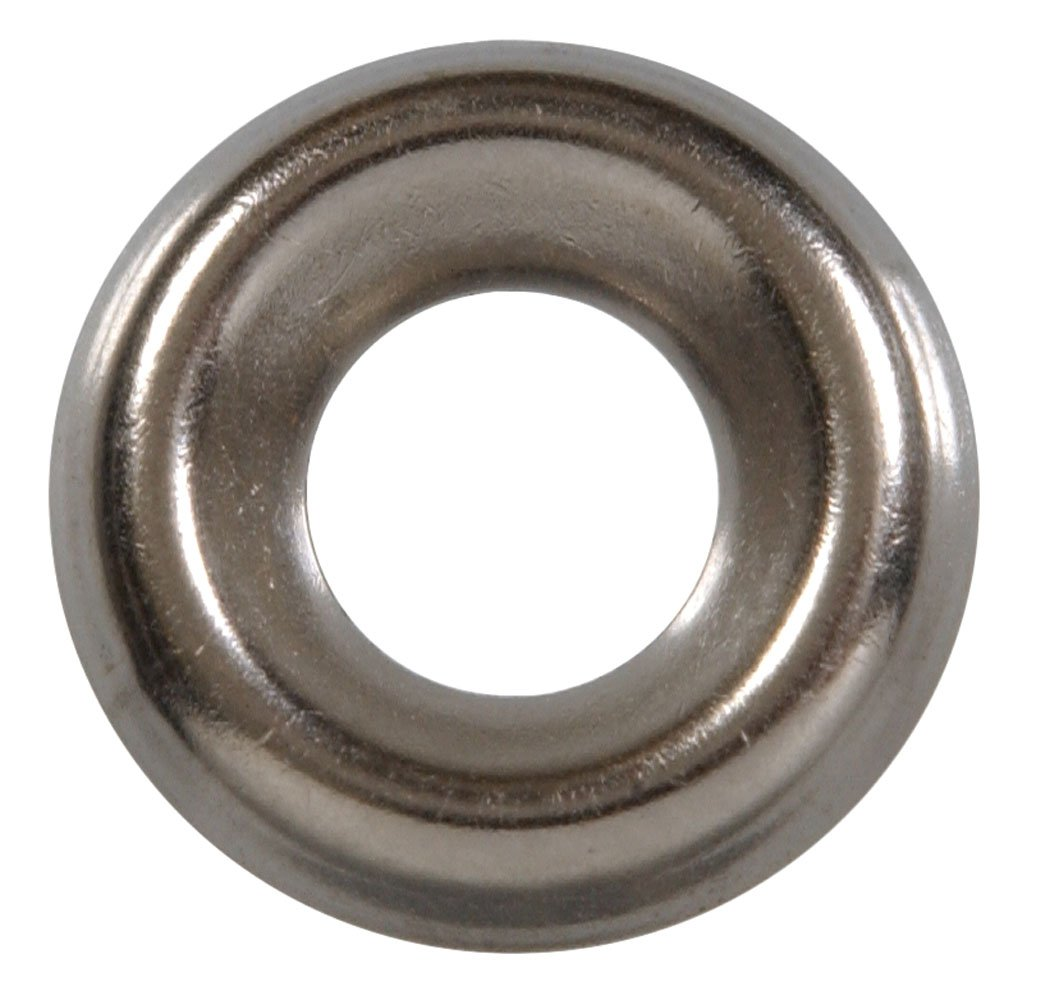 The Hillman Group The Hillman Group 1263#10 Brass Nickel Plated Countersunk Finishing Washer 30 Pack