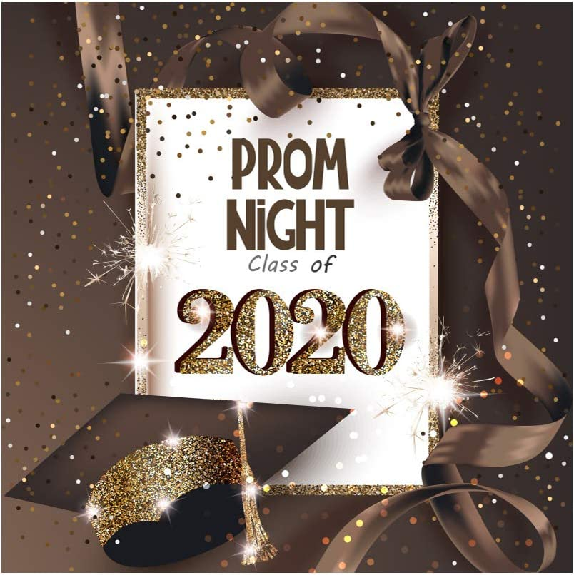 Yeele 6x6ft Graduation Party Backdrop Prom Night Class of 2020 Photography Background Ribbon Grad Celebration Party Banner Background for Picture Photo Photo Booth Decoration